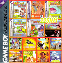 225 in 1  gba MultiGame multicart